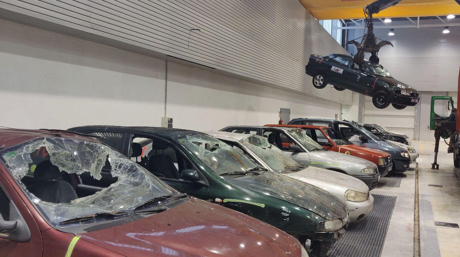 Preparación vehículos curso Bomberos